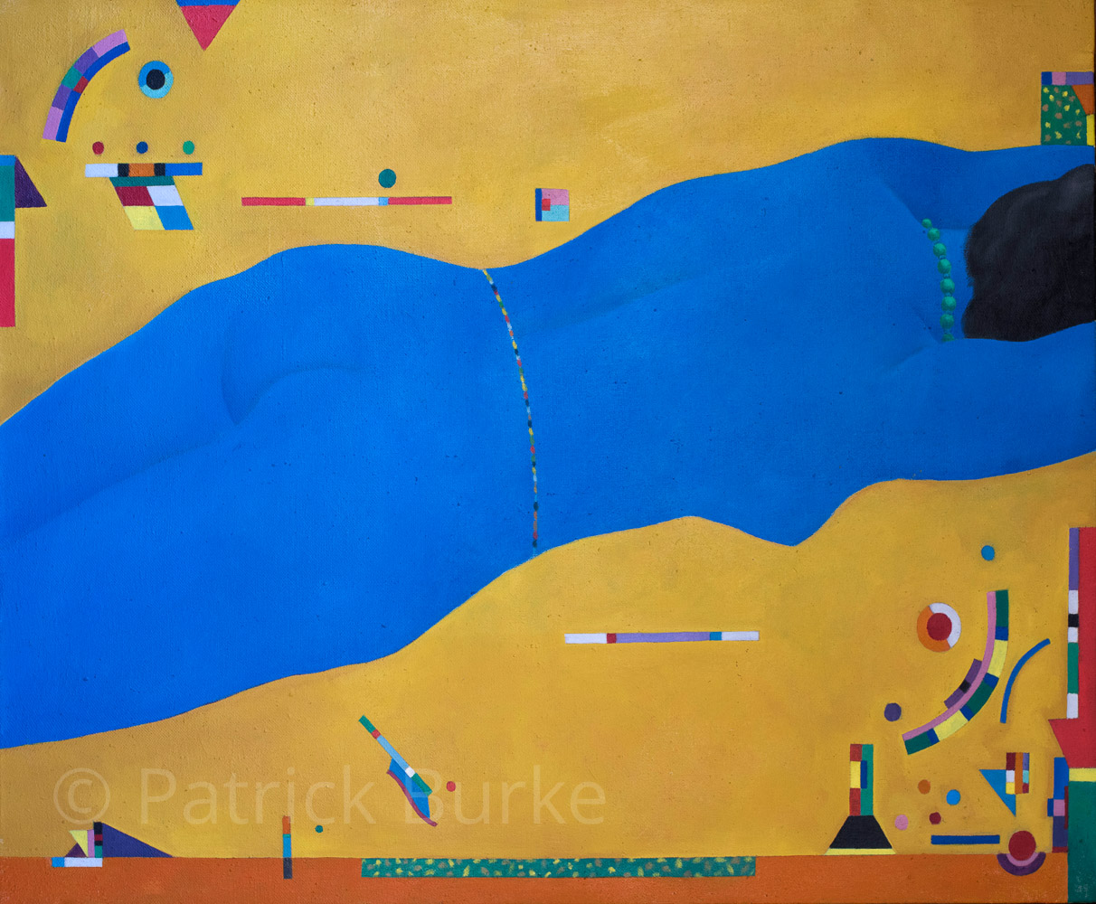 Blue Lady No.3, 1982/1, 61x77cm